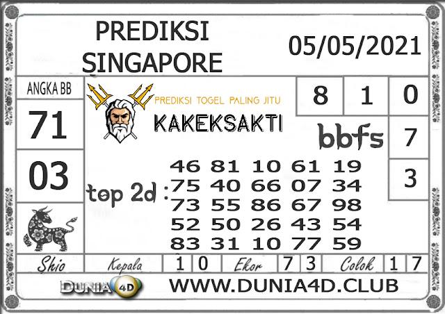Prediksi Togel SINGAPORE DUNIA4D 05 MEI 2021