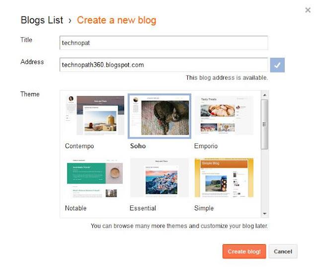 make a blog on google