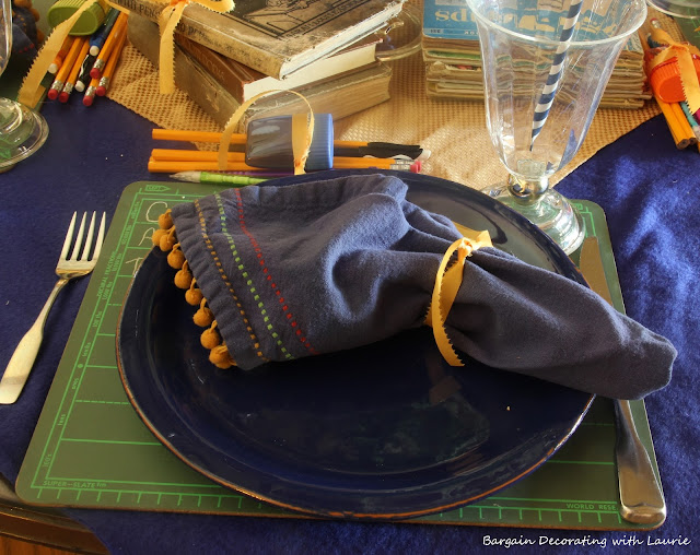 Back to School Tablescape-Bargain Decorating with Laurie