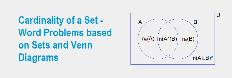 Cardinality of a Set | Word Problems based on Sets and Venn Diagrams