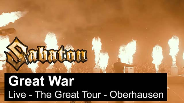 "Sabaton - ""The Great War"" (live video)"