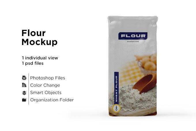 Paper Flour Bag Mockup 5436567