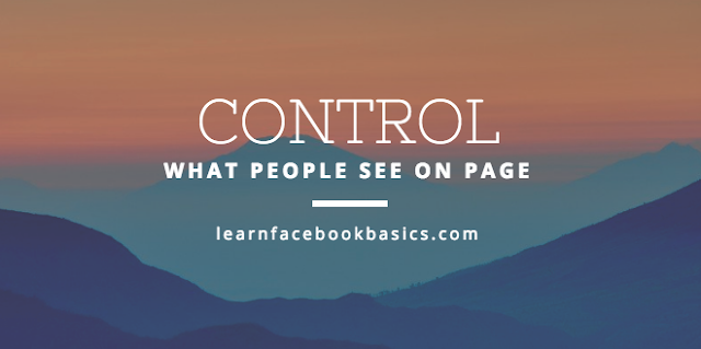 How do I control what visitors can post on my Page on Facebook?