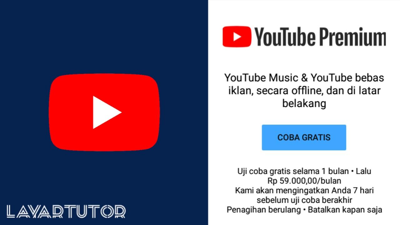 cara mendapatkan YouTube Premium dengan gratis