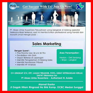 Sales Marketing PT Akses Lintas Nusantara
