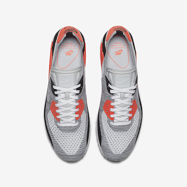the latest 01de1 87f07 Nike Air Max 90 Ultra 2.0 Flyknit. White, Wolf Grey, Bright Crimson, Black.  875943-100. An OG Air Max colorway is revived for the latest iteration of  the ...