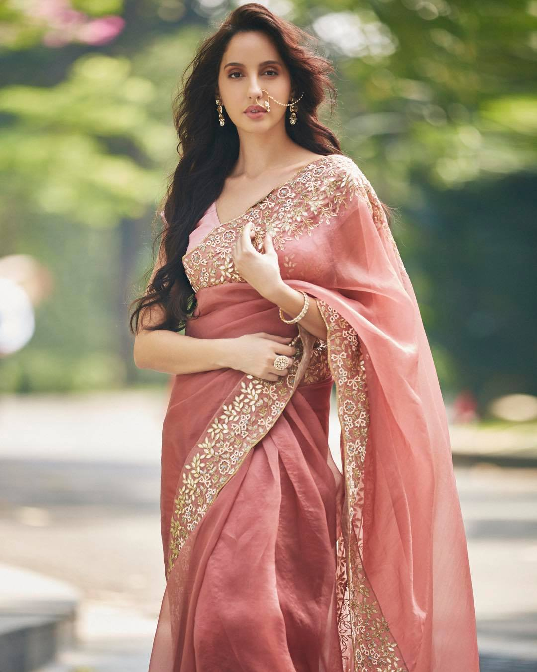 Nora Fatehi in Indian Saree