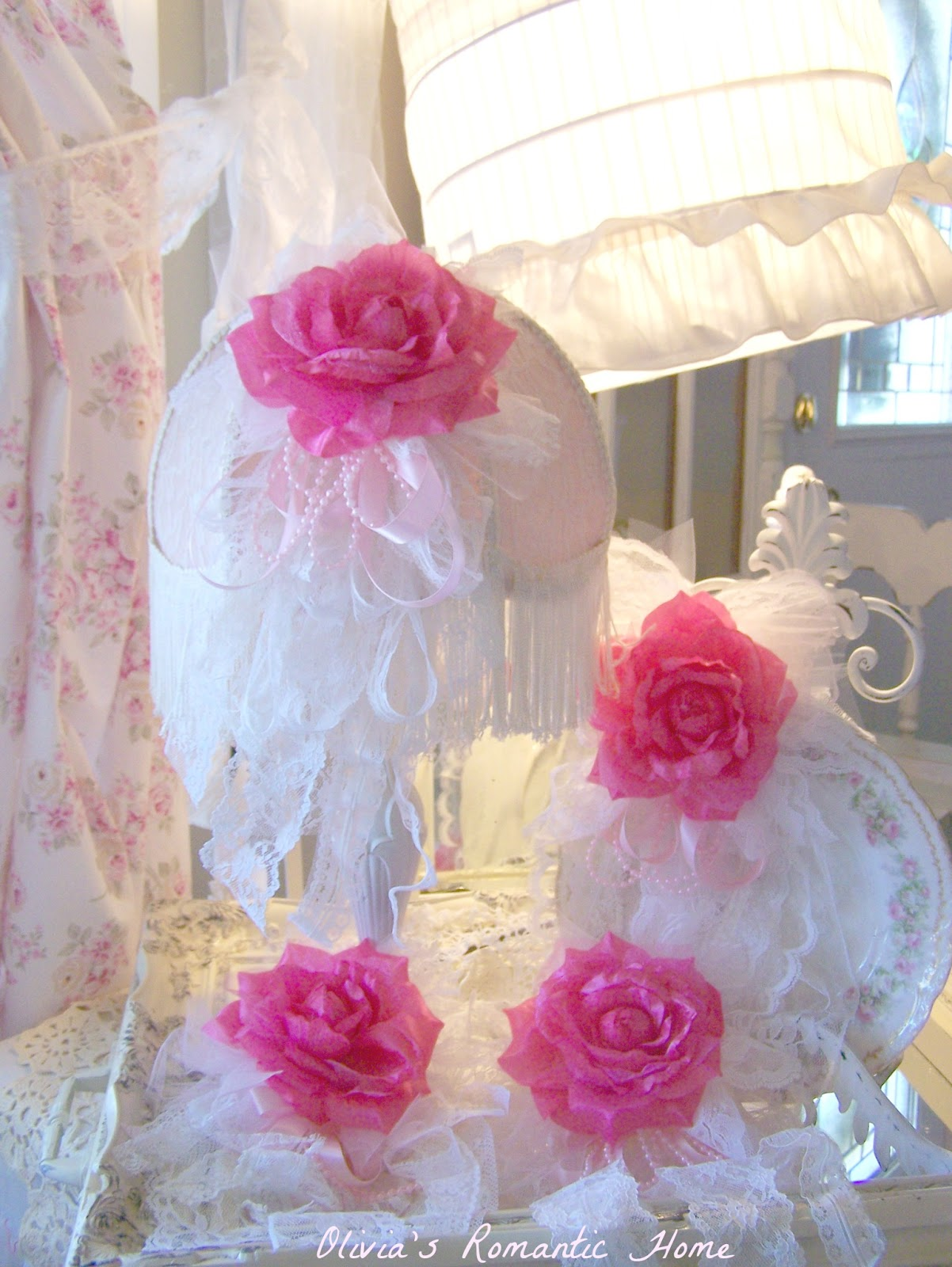 Olivia's Romantic Home: Shabby Chic Rose Curtains