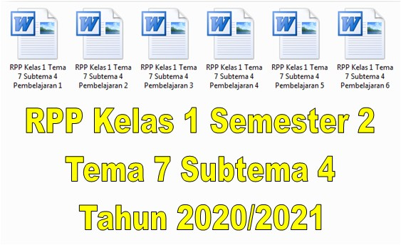 RPP Kelas 1 Semester 2 Tema 7 Subtema 4 Tahun 2020/2021 - Guru Krebet 3