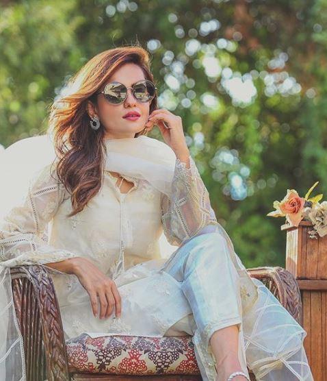 Actress Sumbul Iqbal Princess Looks in White Chiken Kurti