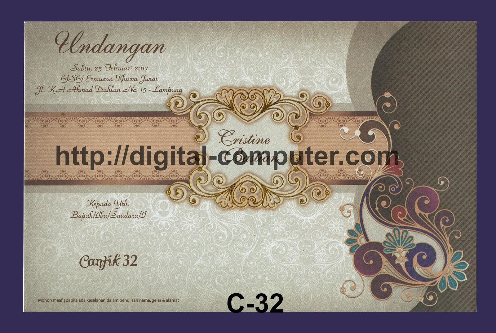 Undangan Softcover Cantik C-32