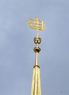 Кораблик на шпиле Адмиралтейства, Санкт-Петербург.