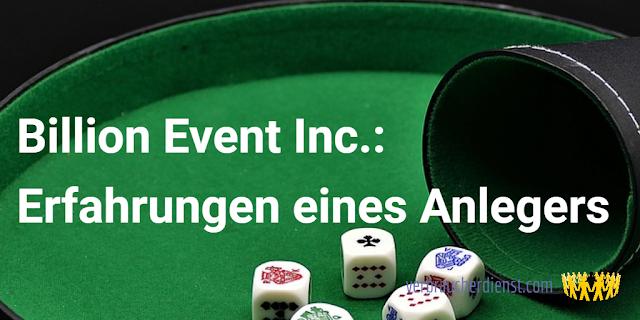 Titel: Billion Event Inc.: Erfahrungen eines Anlegers