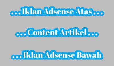 Cara Memasang Iklan Adsense Sebelum Dan Sesudah Artikel - 100% Berhasil