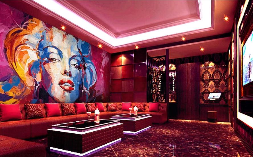 Tranh dán tường 3D trang trí quán  MSP_4549675