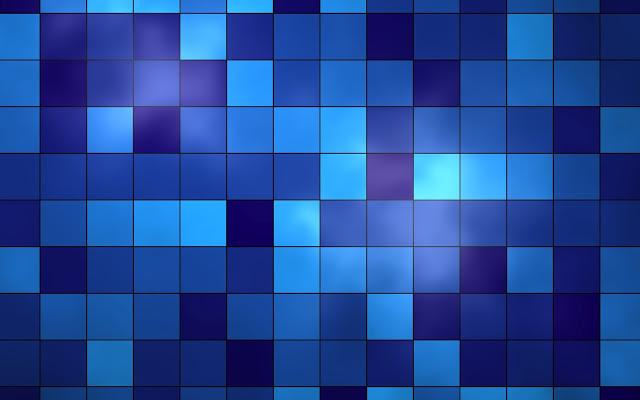 Blauwe achtergrond met hokjes en vierkanten