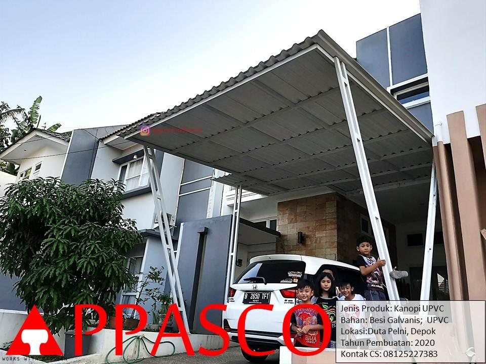 Kanopi Minimalis UPVC di Duta Pelni Depok