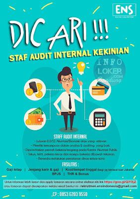 Lowongan Kerja Staff Internal Audit