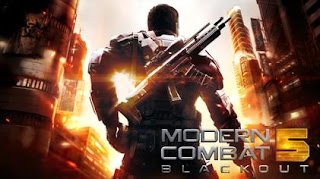 4. Game Modern Combat 5 MOD Unlimited All Free Shopping Apk + Data Offline Installer