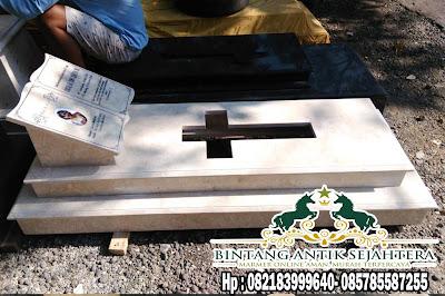 Makam Kristen Minimalis Marmer | Contoh Kuburan Kristen