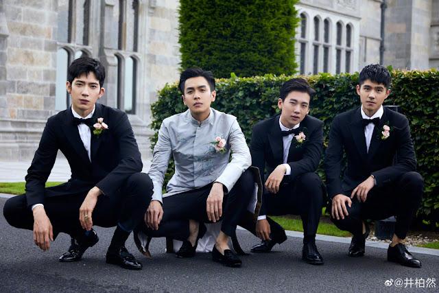 Zhang Ruoyun groomsmen Liu Haoran Jing Boran Guo Qilin