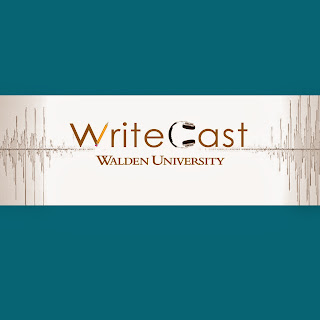 WriteCast podcast logo: A Casual Conversation for Serious Writers