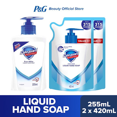 Safeguard Pure White Liquid Hand Soap