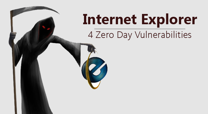 Oh Gosh! Four Zero Day Vulnerabilities Disclosed in Internet Explorer
