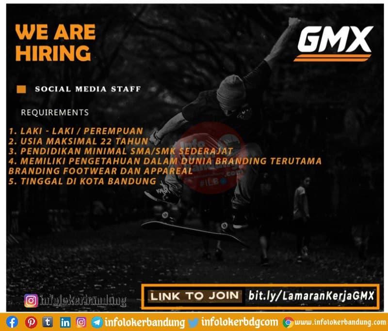 Lowongan Kerja Social Media Staff GMX Bandung Juni 2021