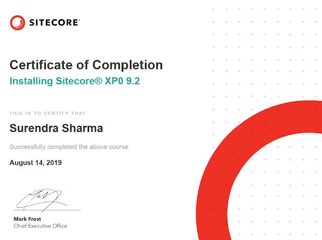 Installing Sitecore XP0 9.2