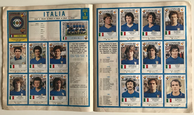 Figurine Mondiali Italia 1982
