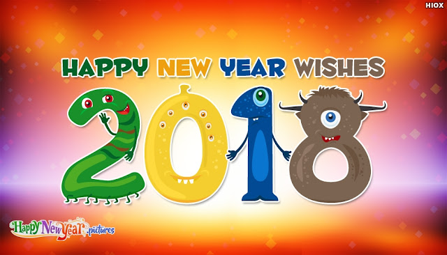 Happy new Year 2018 HD wallpapers for kids