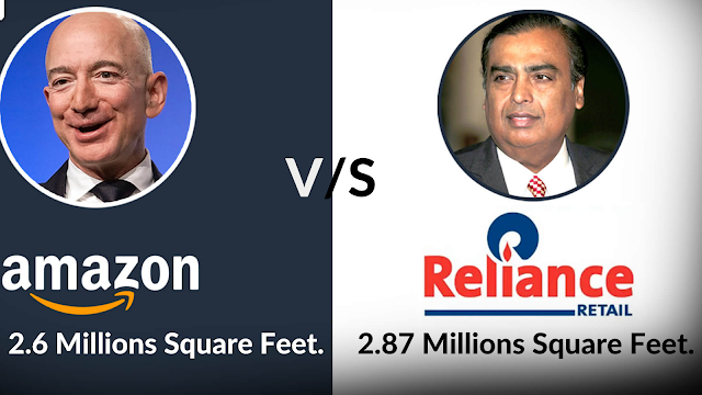 Reliance Next Target is Retail Business, which has reached 400 Million users through Jio, its direct competition with Amazon.