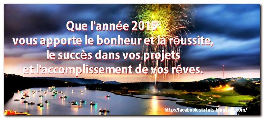 Statut facebook: bonne année 2015 souhait