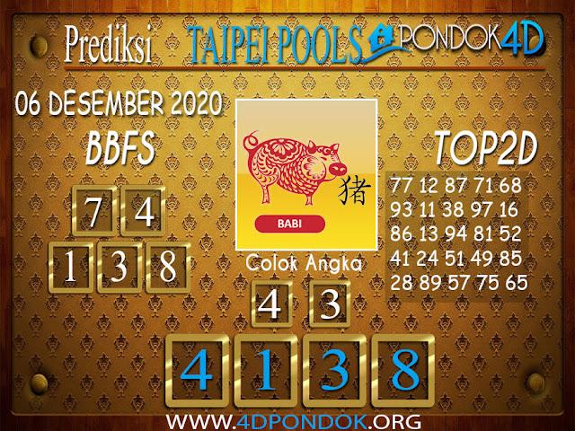 Prediksi Togel TAIPEI PONDOK4D 06 DESEMBER 2020