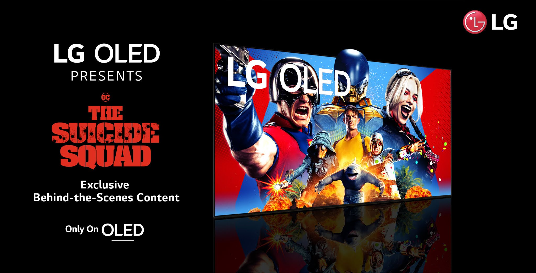 LG Teams Up With All-New Film The Suicide Squad To Bring Behind-The-Scenes Content To Fans As Part Of The Only On OLED Program