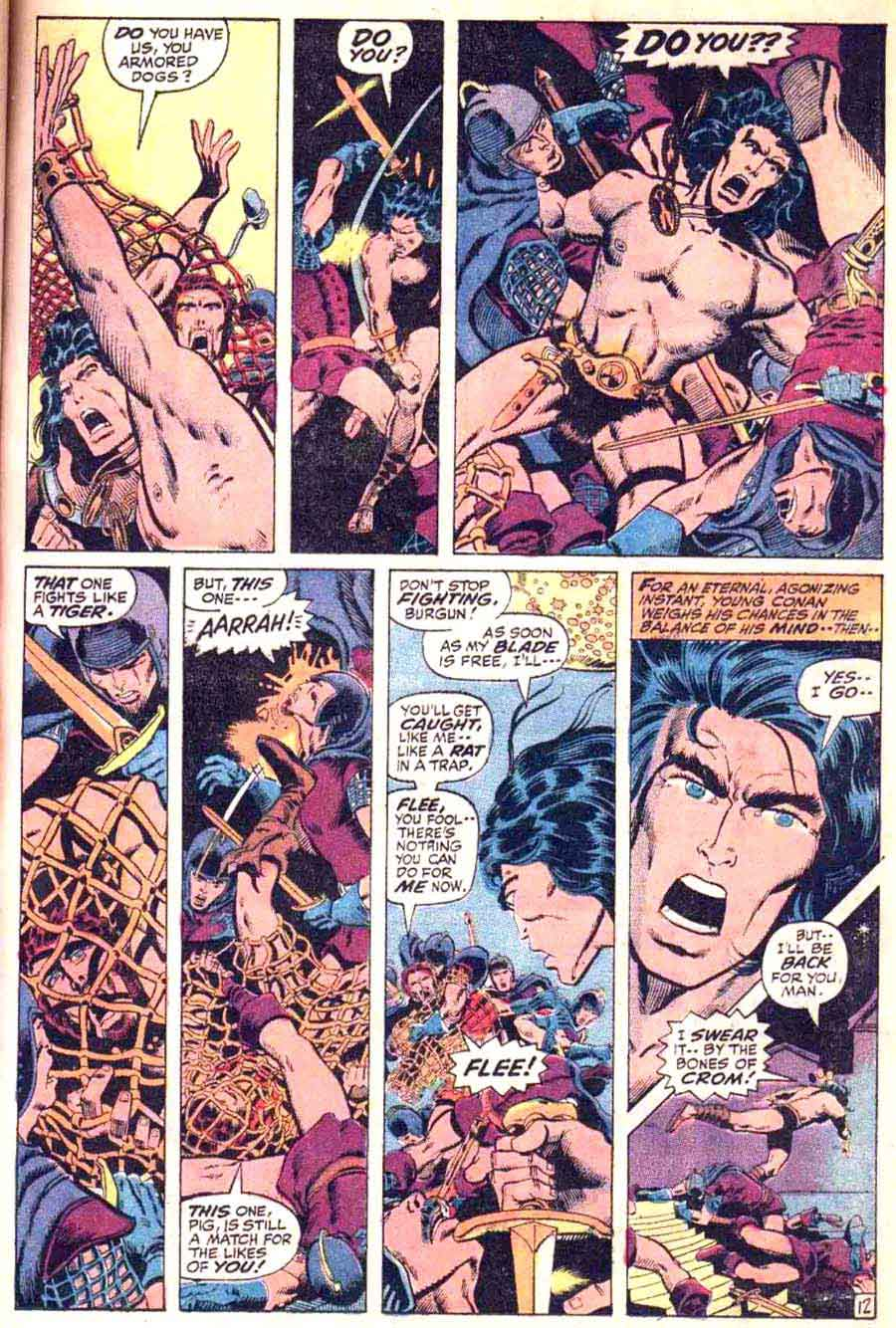 Conan the Barbarian v1 #10 marvel comic book page art by Barry Windsor Smith