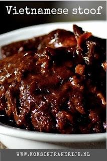 Recept voor langzaam gegaard varkensvlees op z'n Vietnamees. Slowcooker, Stoofpan of oven.