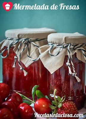 Mermelada de fresas con aroma a vainilla Sin Lactosa.