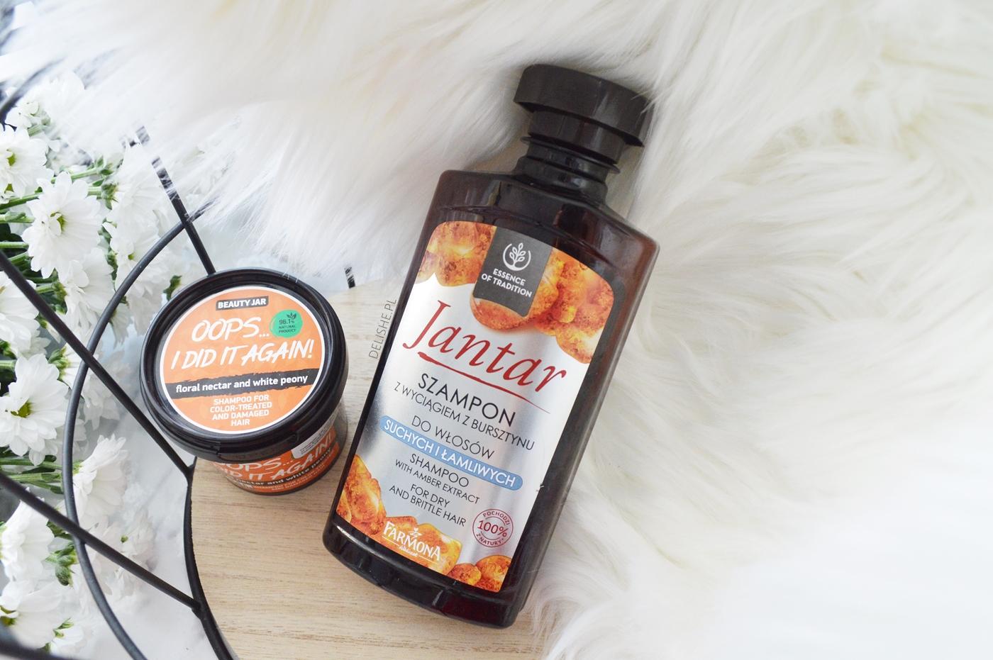 szampon do włosów Jantar i Beauty Jar