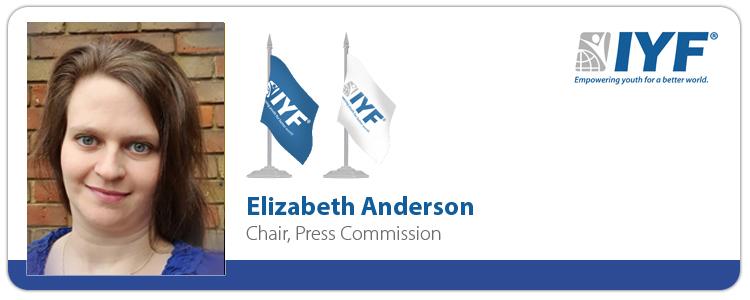 Elizabeth Anderson, IYF Chair of Press Commission