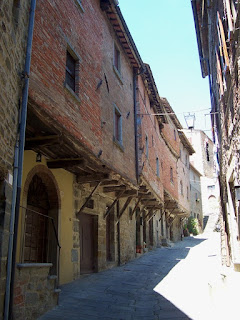 The Via Janelli in Cortona: reputed to be one of the oldest streets in Italy