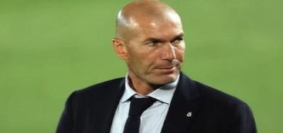 Real Madrid coach Zinedine Zidane Sergio Ramos