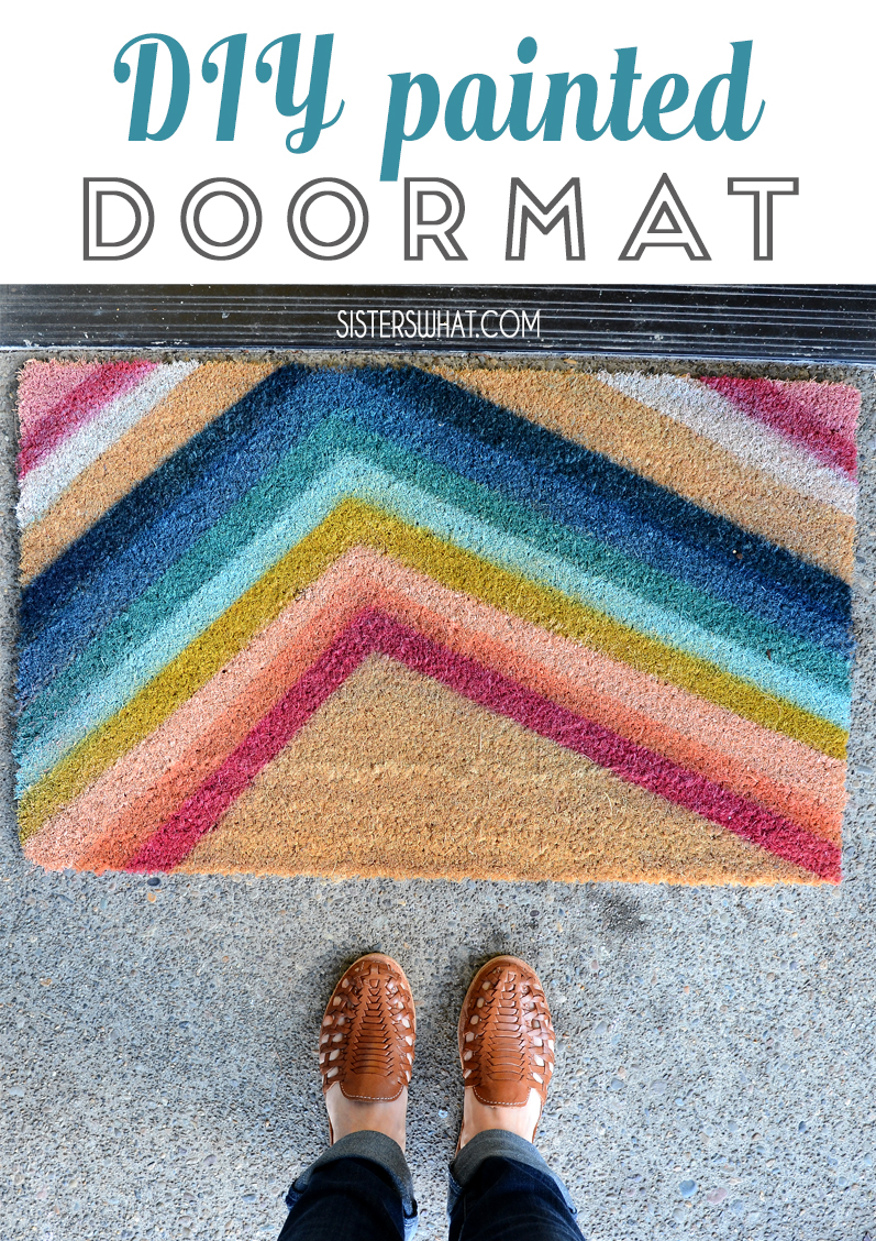 painted front modern doormat DIY