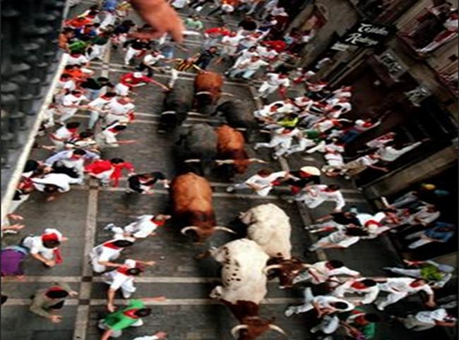 Running of te bulls - Pamplona, Spain