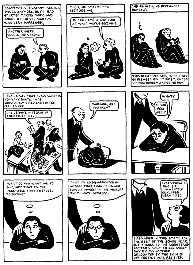 Read Chapter 8 - The Croissant, page 72, from Marjane Satrapi's Persepolis 2 - The Story of a Return