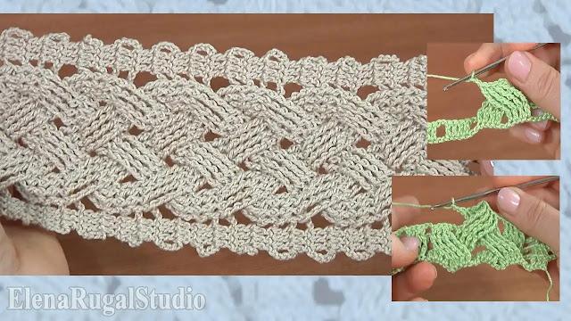 Tutorial paso a paso punto trenzas anchas a crochet