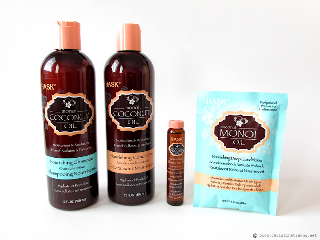 HASK Monoi Coconut Oil Nourishing Hair Care Collection Review
