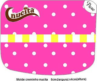 Etiqueta Nucita de Rosado y Amarillo para imprimir gratis.