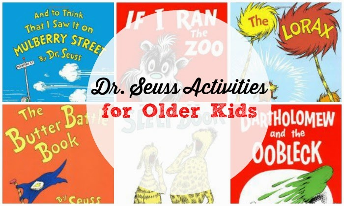 Activities for kids based on Dr Seuss' longer books